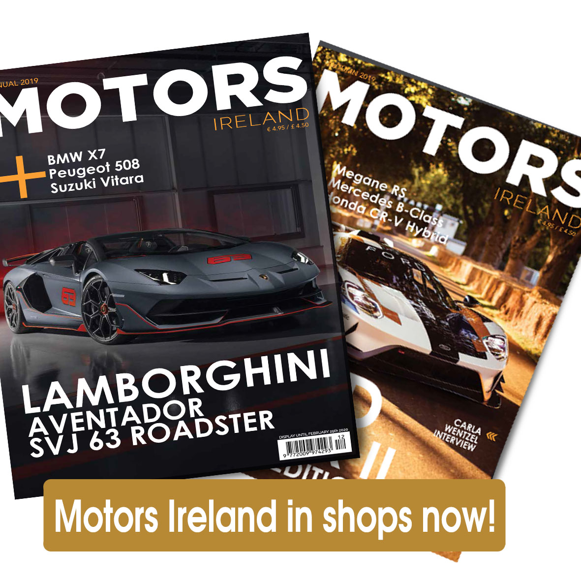 Motors Ireland in shops